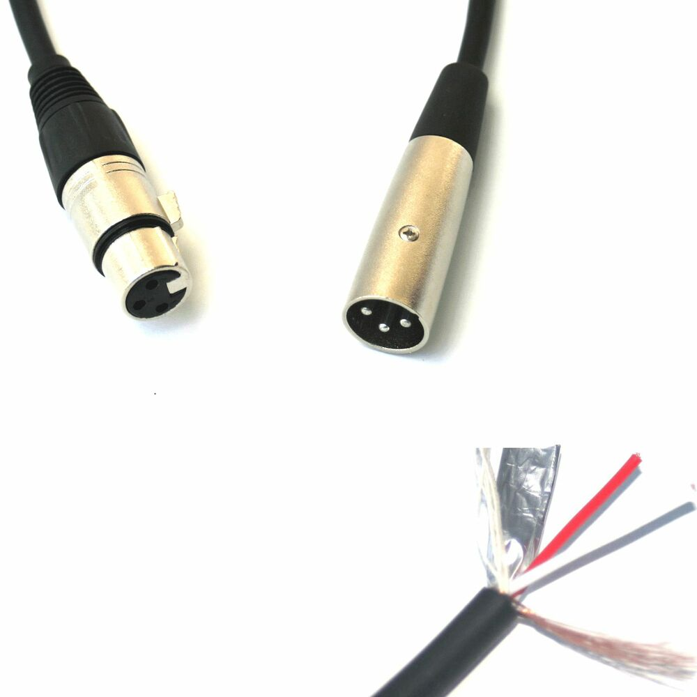 high quality xlr male to female 3 pin shielded audio balanced cable snake wire ebay. Black Bedroom Furniture Sets. Home Design Ideas