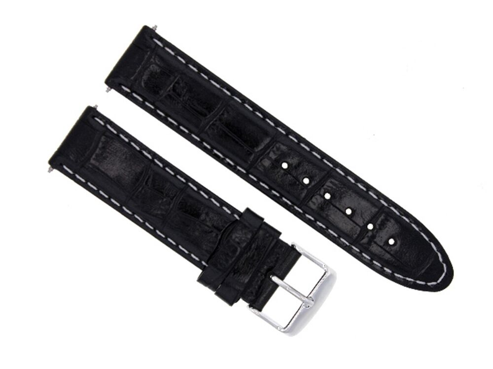 18mm leather watch strap band for longines ws black 12 ebay for Longines leather strap