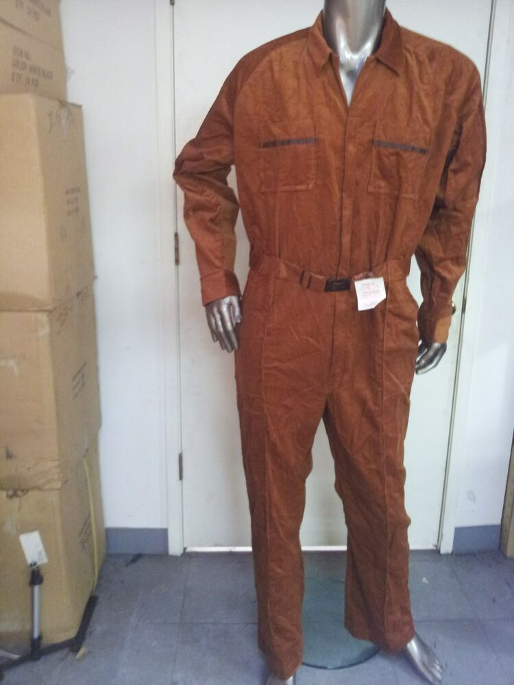 Mens Vintage Coveralls Courduroy New Old Stock Size Xl Ebay