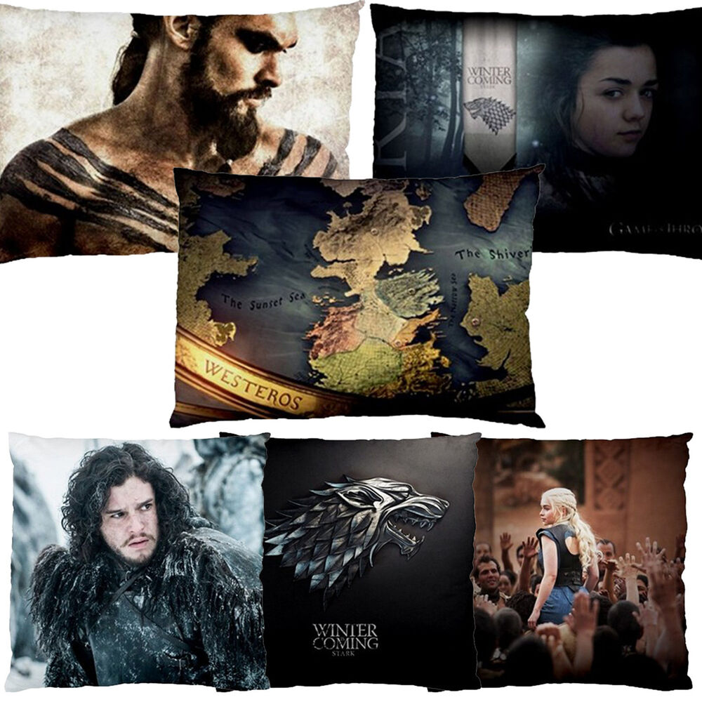 NEW HOME DECOR PILLOW CUSHION CASE GAME OF THRONES STARK