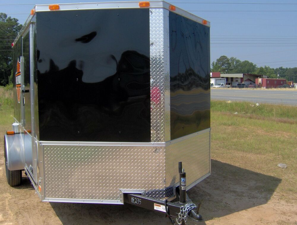 Enclosed Cargo Motorcycle 2 Bike Trailer 7x10 Finished