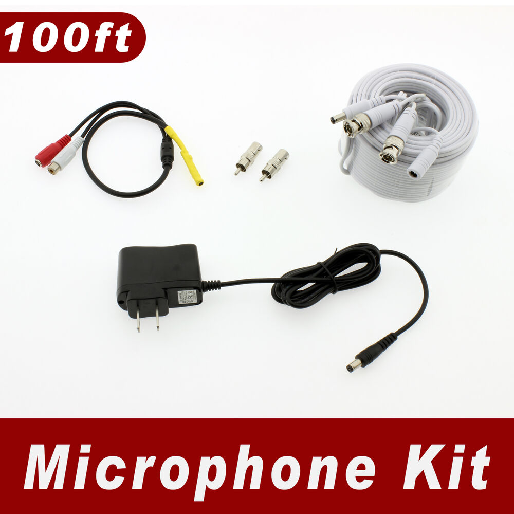 100ft Length Microphone Kit For Swann Surveillance