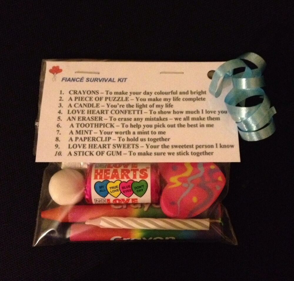 Fiancé Survival Kit Unusual Engagement Birthday Gift