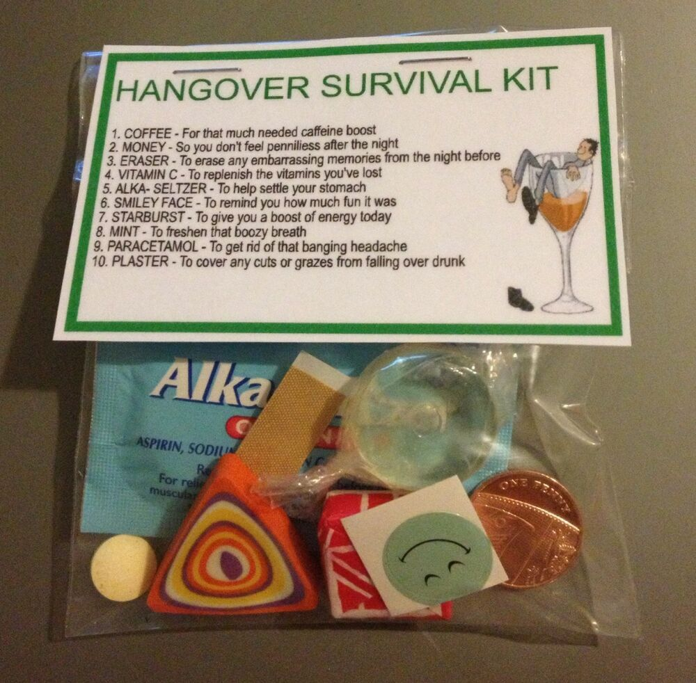 Hangover survival kit perfect hen night gift stag night gift or hangover survival kit perfect hen night gift stag night gift or birthday gift ebay solutioingenieria Choice Image