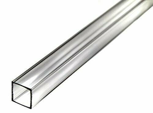 Quot acrylic square tube clear id od