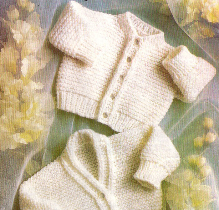 Simple Baby Cardigan Knitting Pattern : Premature Baby Cardigan Knitting pattern in DK- easy knit eBay