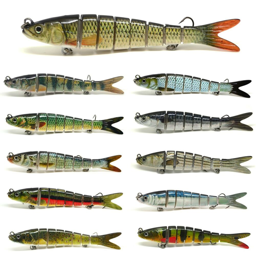 5 5 multi jointed fishing lure bait swimbait life like for Fishing tackle and bait