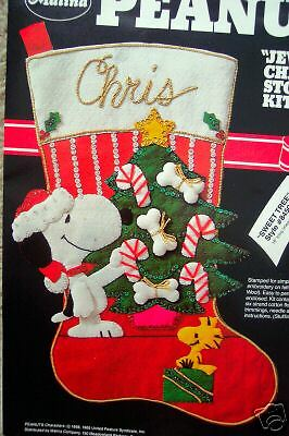 Peanuts Felt Applique Christmas Stocking Kit Sweet Tree