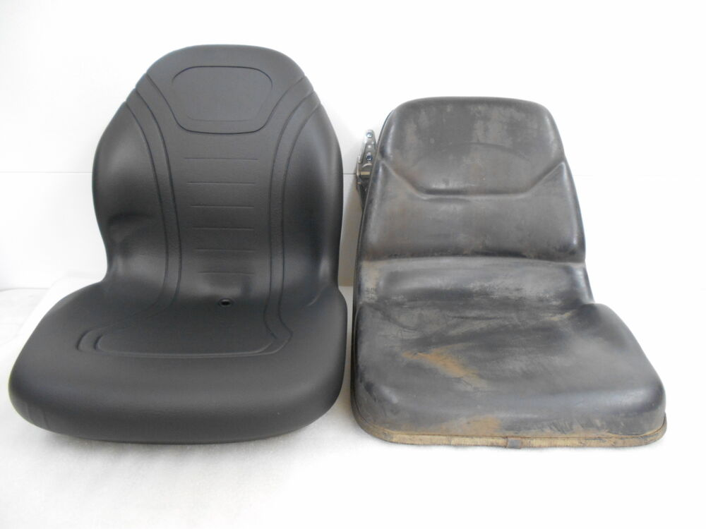 Compact Tractor Seats : High back black seat for john deere jd