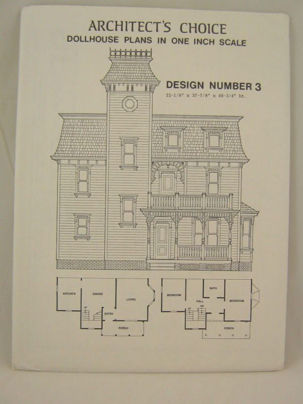 Dollhouse plans design 3 architect 39 s choice 1 12 scale for Blueprint scale
