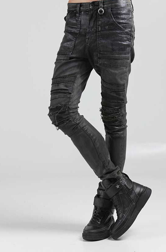 korea_top mens denim pants mens black stretch skinny jeans mens ...