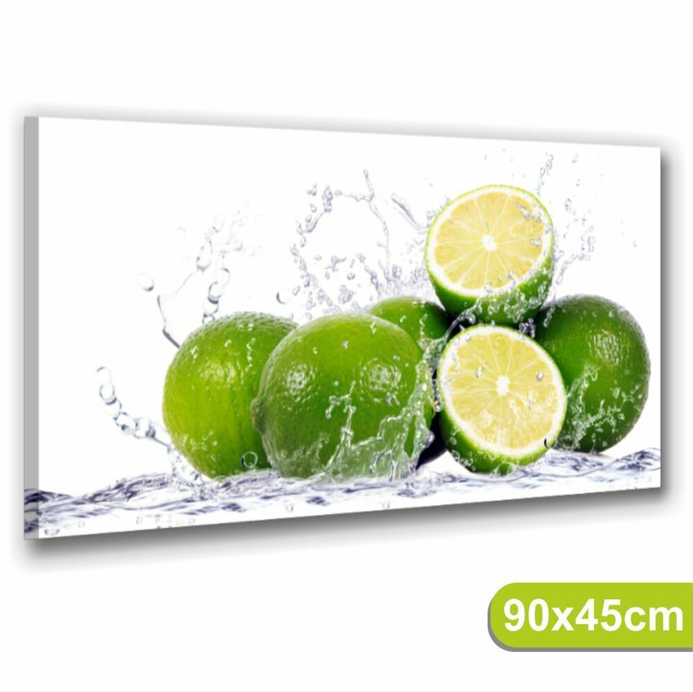 Lime quadri moderni 90x45 stampe tela arred0 cucina bar for Quadri da cucina