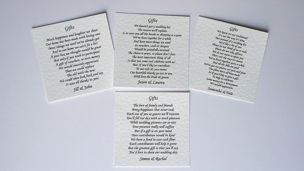 Wedding Poem For Money Gift: 30 Wedding Poem Cards For Your Invitations