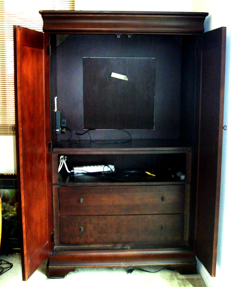 Basset entertainment armoire ebay for Entertainment armoire