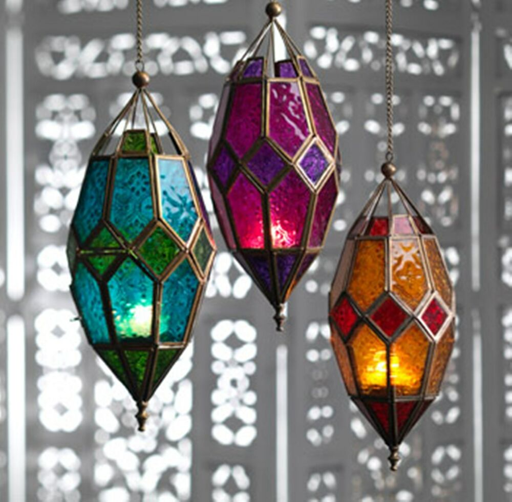 Large Moroccan Style Hanging Lantern Tea light Candle ...