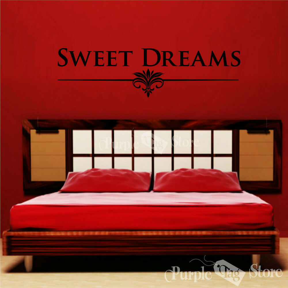 Sweet Dreams Vinyl Art Home Wall Room Bedroom Quote Decal Sticker Decoration Ebay