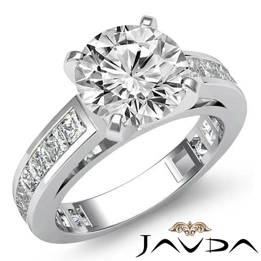 Two Platinum: Round Diamond Gorgeous Engagement GIA F VS2 Platinum 950
