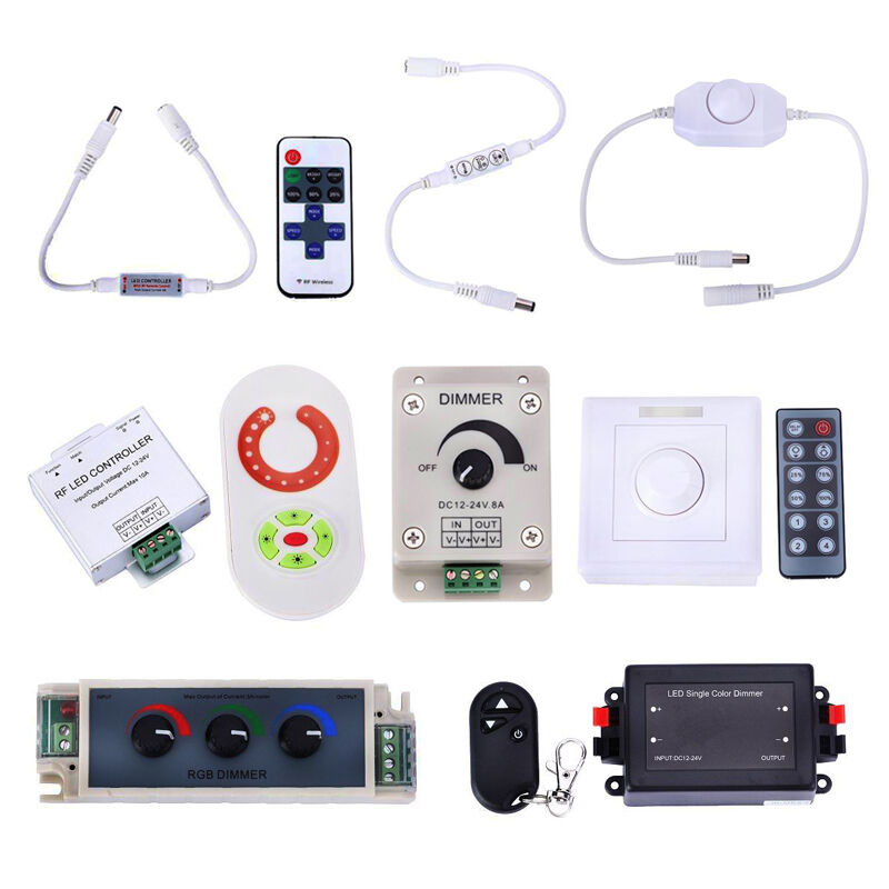 ir rf led controller dimmer fernbedienung touch funktion f r rgb strip streifen ebay. Black Bedroom Furniture Sets. Home Design Ideas