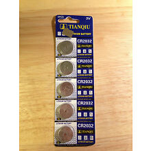5 CR2032 CR 2032 DL2032 BR2032 3 Volt Lithium Button Cell Battery USA US Ship