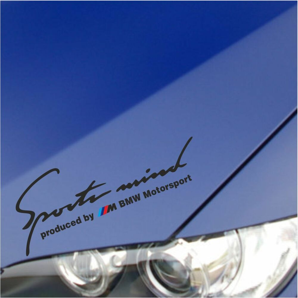 Sports Mind Powered By Audi Sport Vinyl Decal Sticker: SPORT MIND M Power BMW M3 M5 M6 E36 E39 E46 E61 E63 E90