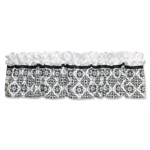 Trend lab versailles black amp white window valance curtain for baby