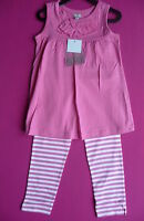 Girls FUNKY DIVA pink vest top/tunic & striped leggings outfit 2-3 3-4 5-6 years