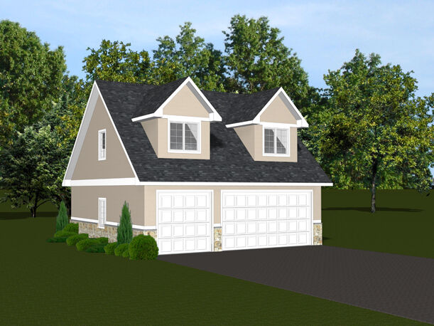 2 car garage plans 30x28 w loft plan 866 sf 1395 ebay for Two car garage with workshop plans