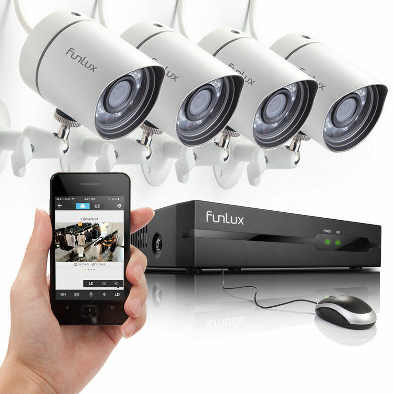 Funlux® 1280 * 720P HD IP Network Outdoor CCTV Home ...