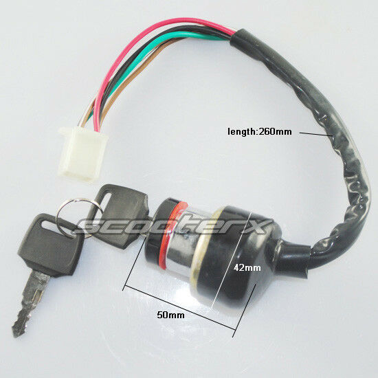 6 Wire Ignition Switch 49cc 50cc 150cc 250cc Moped Scooter