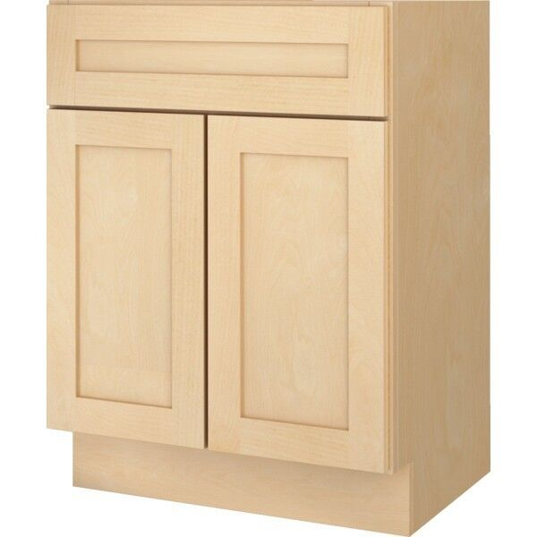"Bathroom Vanity Base Cabinet Natural Maple Shaker 30"" Wide X 21"" Deep New"