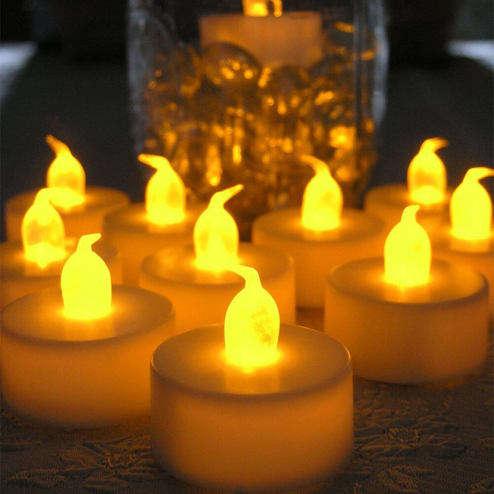 24 60 100 pcs electronic tea light led candle cool white for Ikea tea light battery