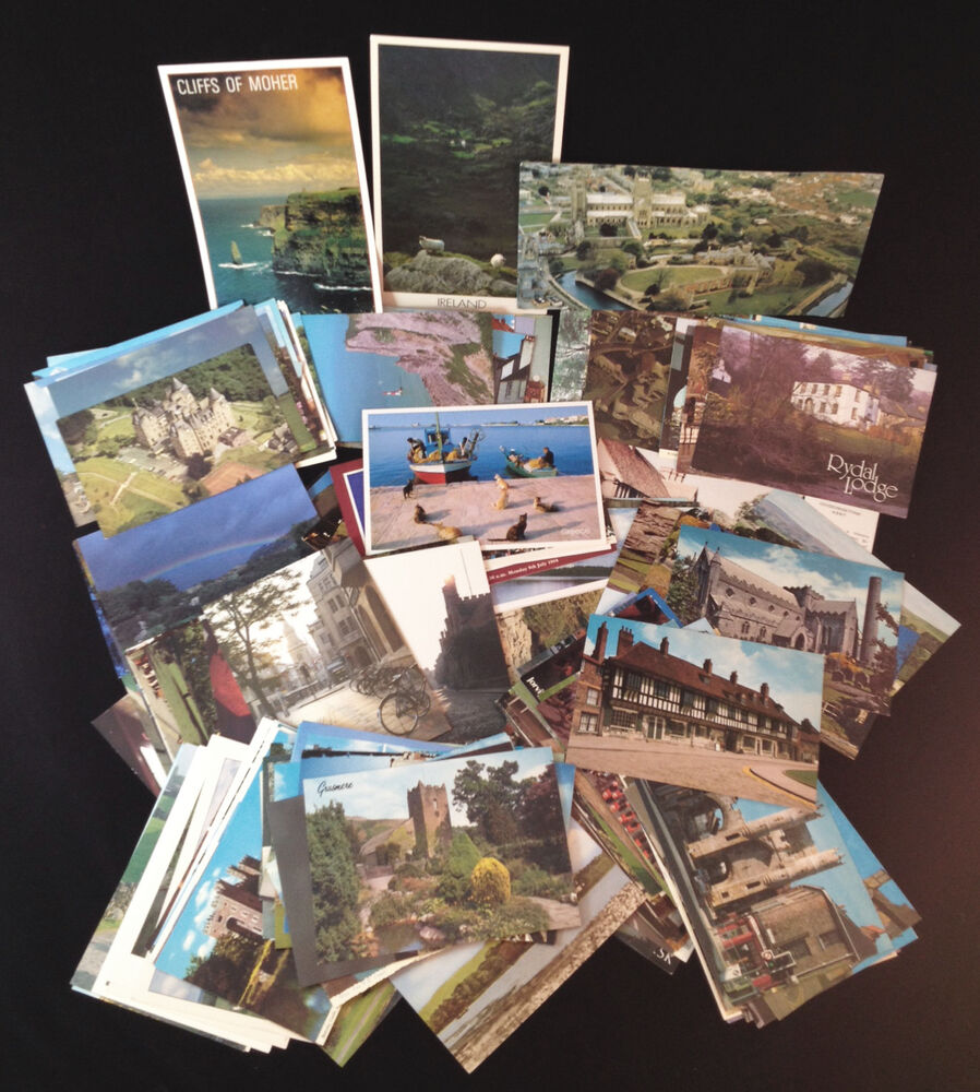 travel international european postcards vintage lot of 190