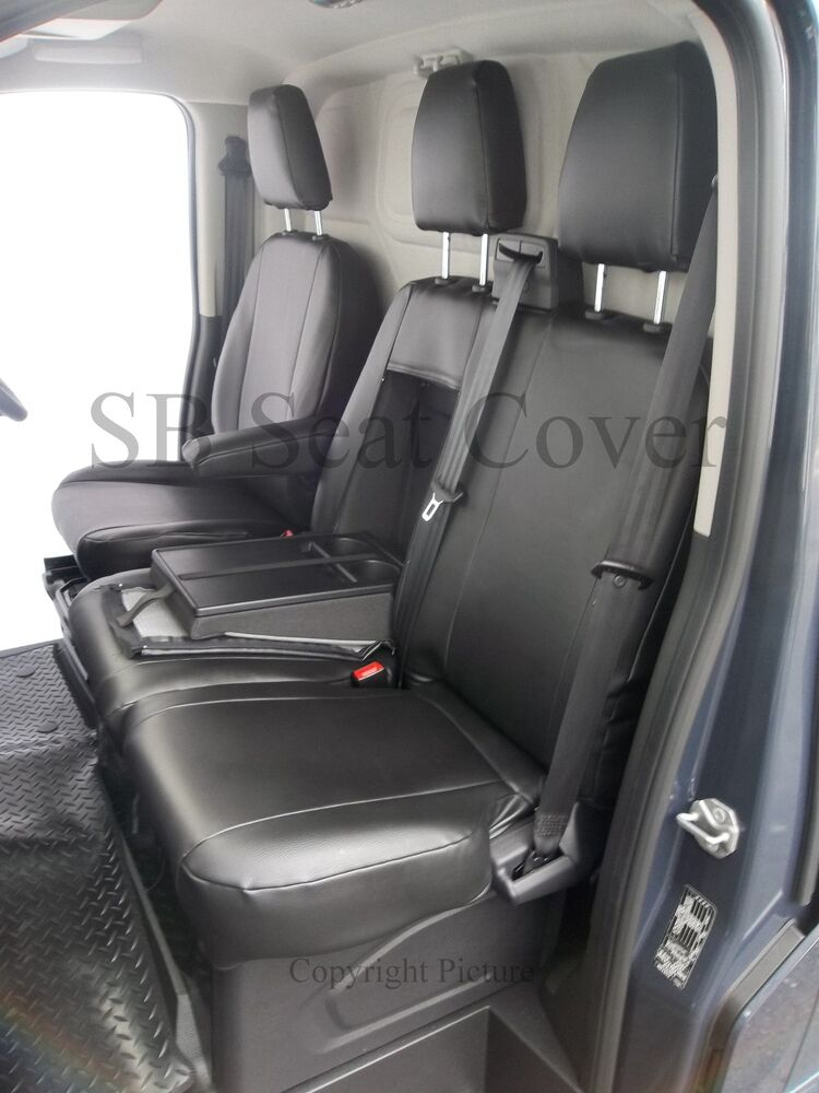 2016 Ford Transit >> FORD TRANSIT CUSTOM VAN SEAT COVERS - MADE TO MEASURE BLACK LEATHERETTE | eBay