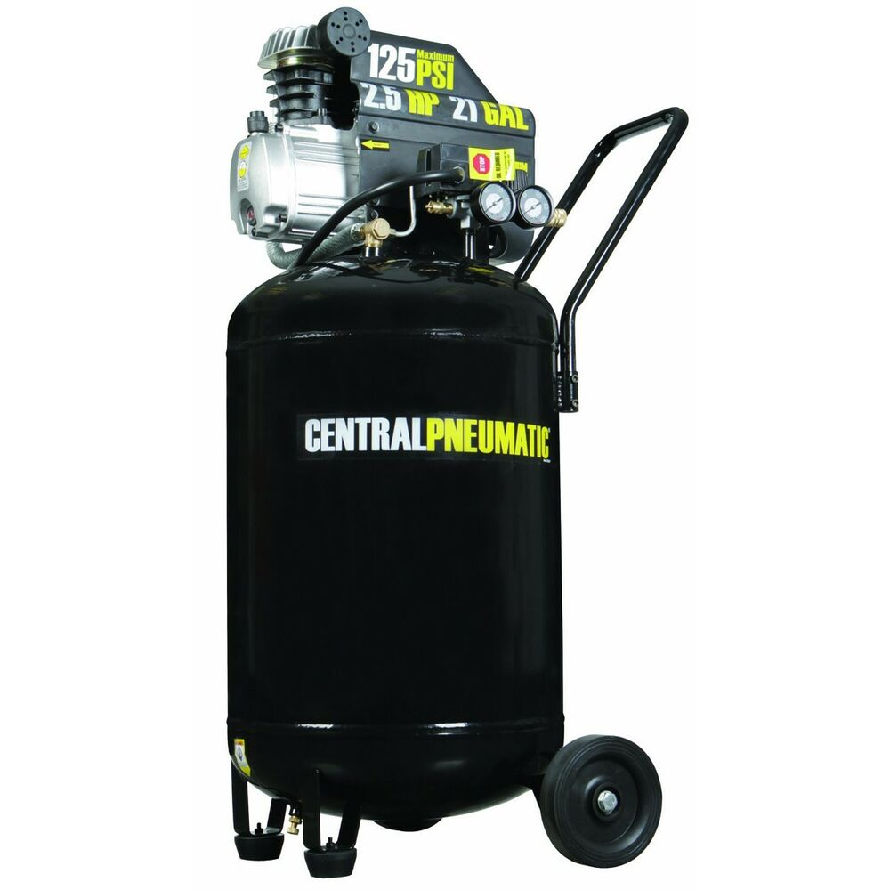 21 gallon 125 psi cast iron vertical air compressor 2 5 hp