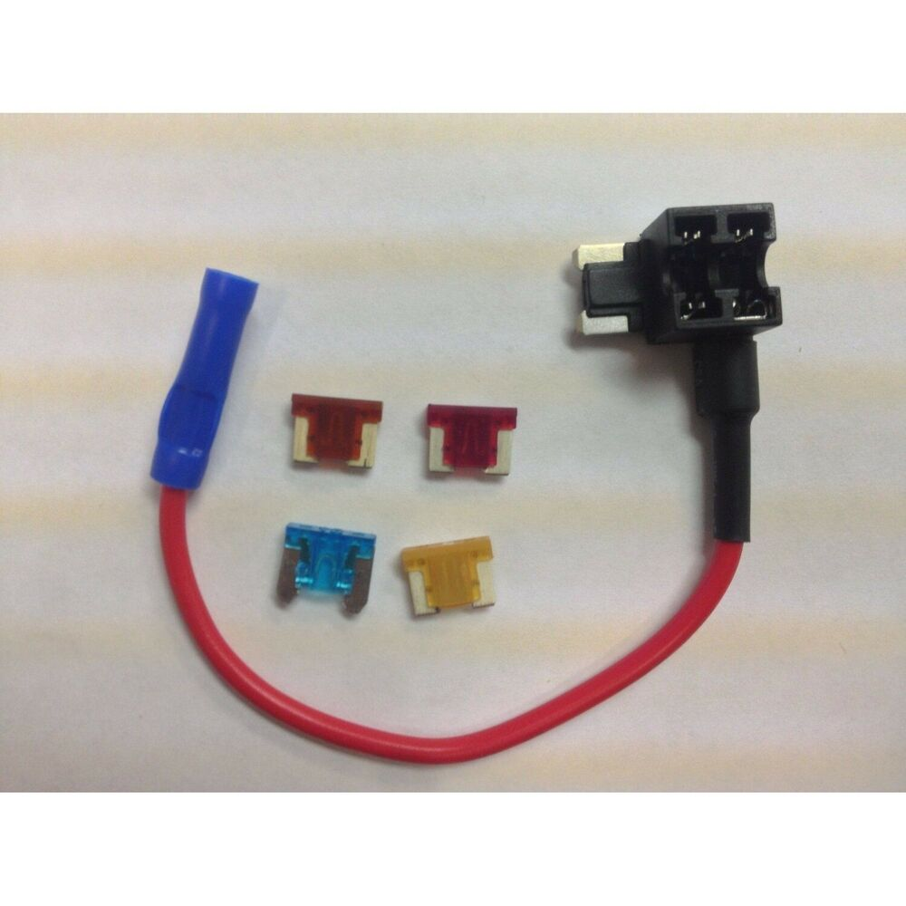 Mini Low Profile Atm   5a 7 5a 10a 15a  Fuse Tap Add On Dual Circuit Adapter
