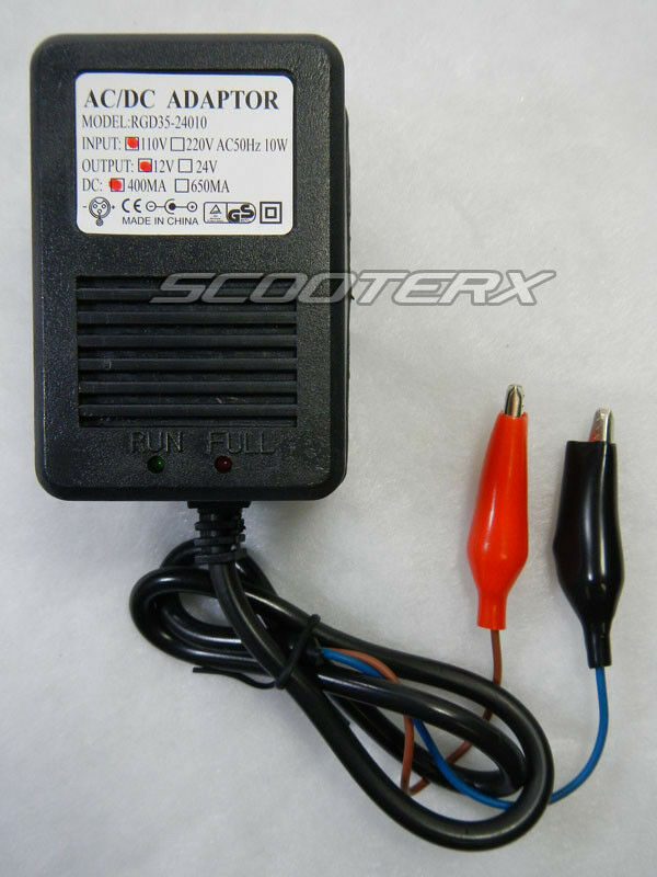 Scooterx 12 volt ac dc battery charger electric motor for Ac to dc motor