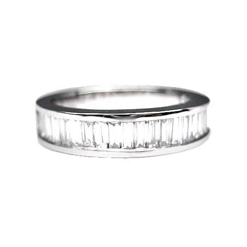 175 ct mens baguette cut diamond wedding band platinum ebay for Mens wedding rings baguette diamonds