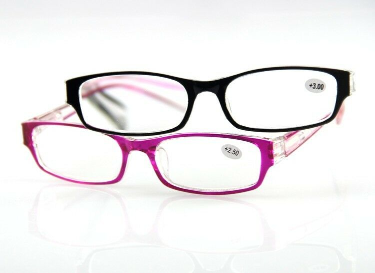 plastic frame reading glasses eyeglass spectacle 100 150
