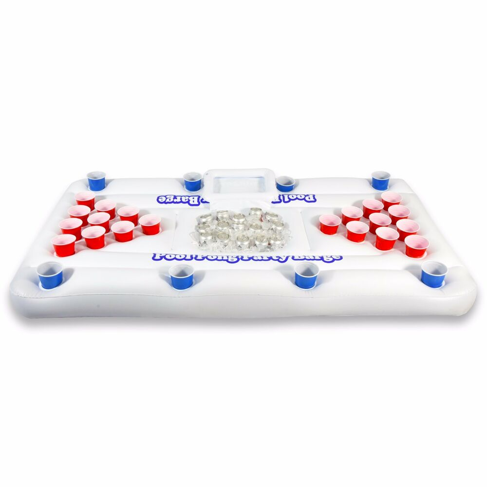 Gopong Party Barge Inflatable Beer Pong Table Pools