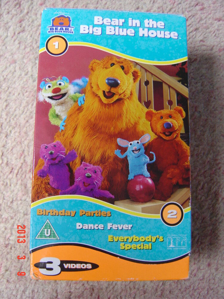 BEAR IN THE BIG BLUE HOUSE - 3 VHS VIDEO TAPE | eBay