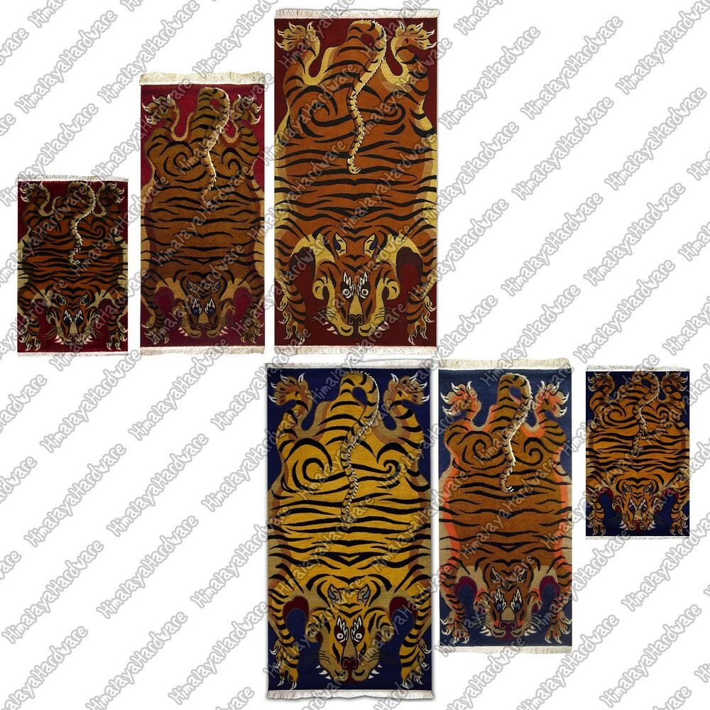 Tibetan TIGER RUG Carpet Tibet Nepal Small Medium Large