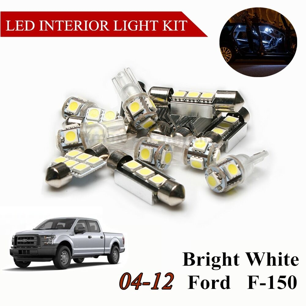 10 Pcs White Led Light Bulbs Interior Package Kit For Ford F 150 F150 2004 2012 Ebay