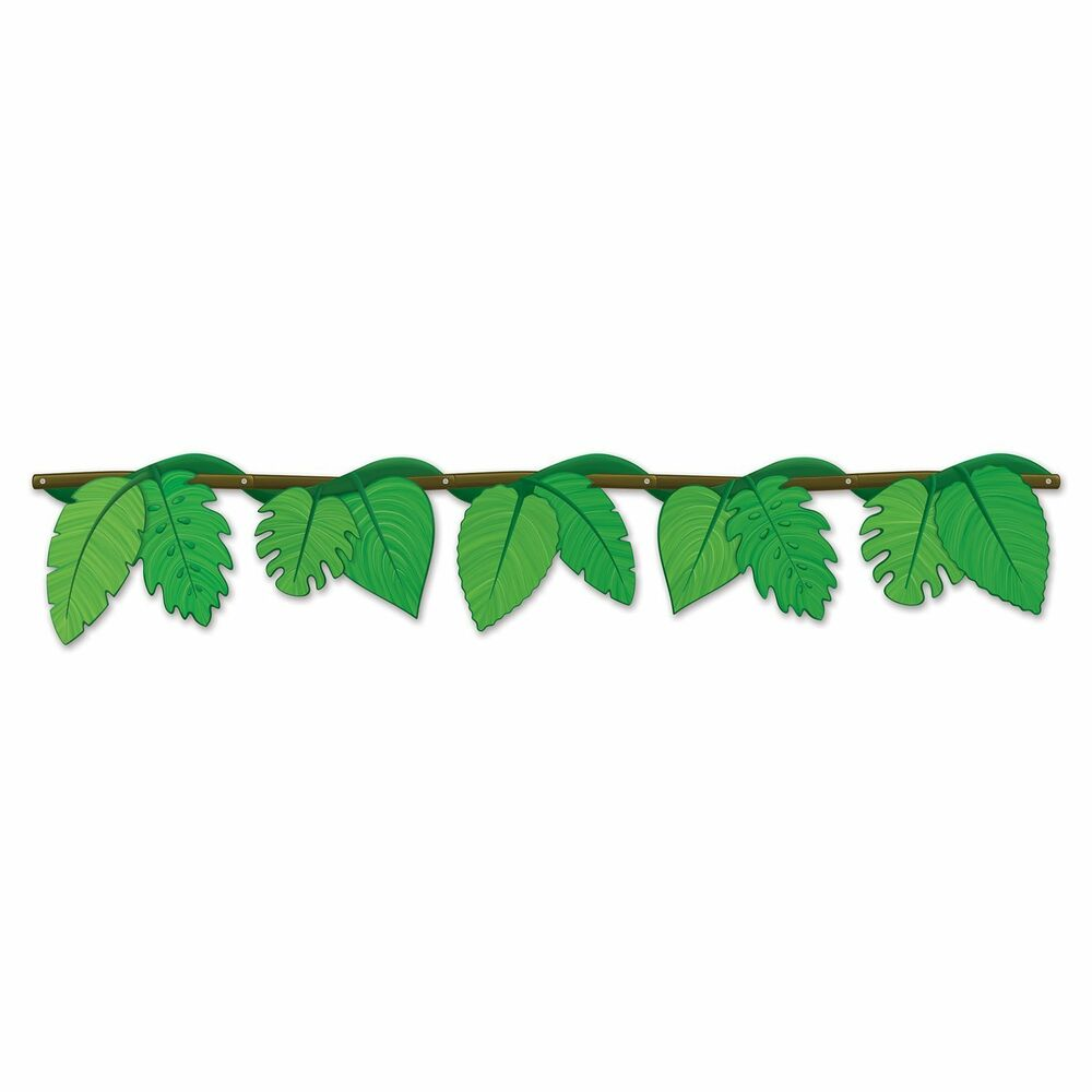 Jungle book safari jointed vine streamer luau party for Decoration leaves