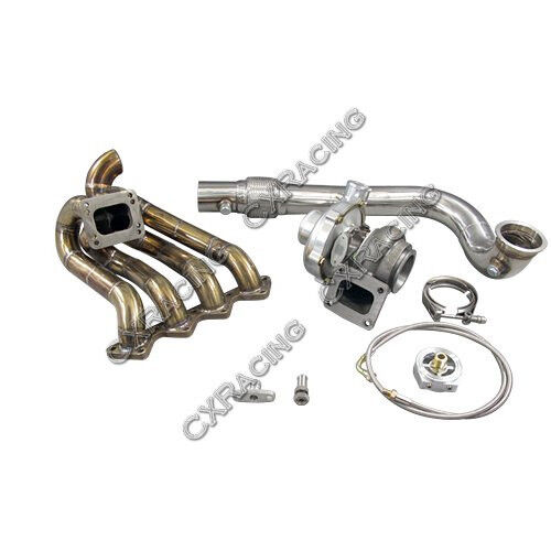 CXRacing GT35 T4 Turbo Charger Kit For Civic Integra EF EG