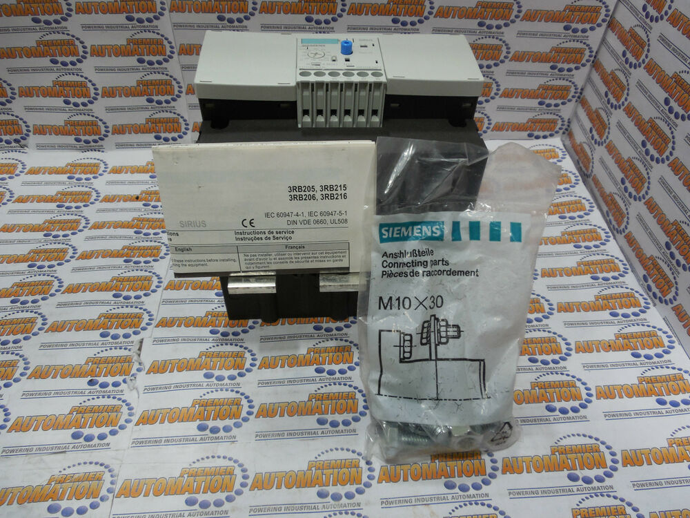 Siemens 3rb2066 2mc2 Relay Overload A For Motor Protection Ebay