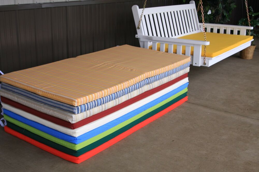 6 foot outdoor swing bed mattress cushion sundown material multi colors ebay - Outdoor furniture foot pads ...
