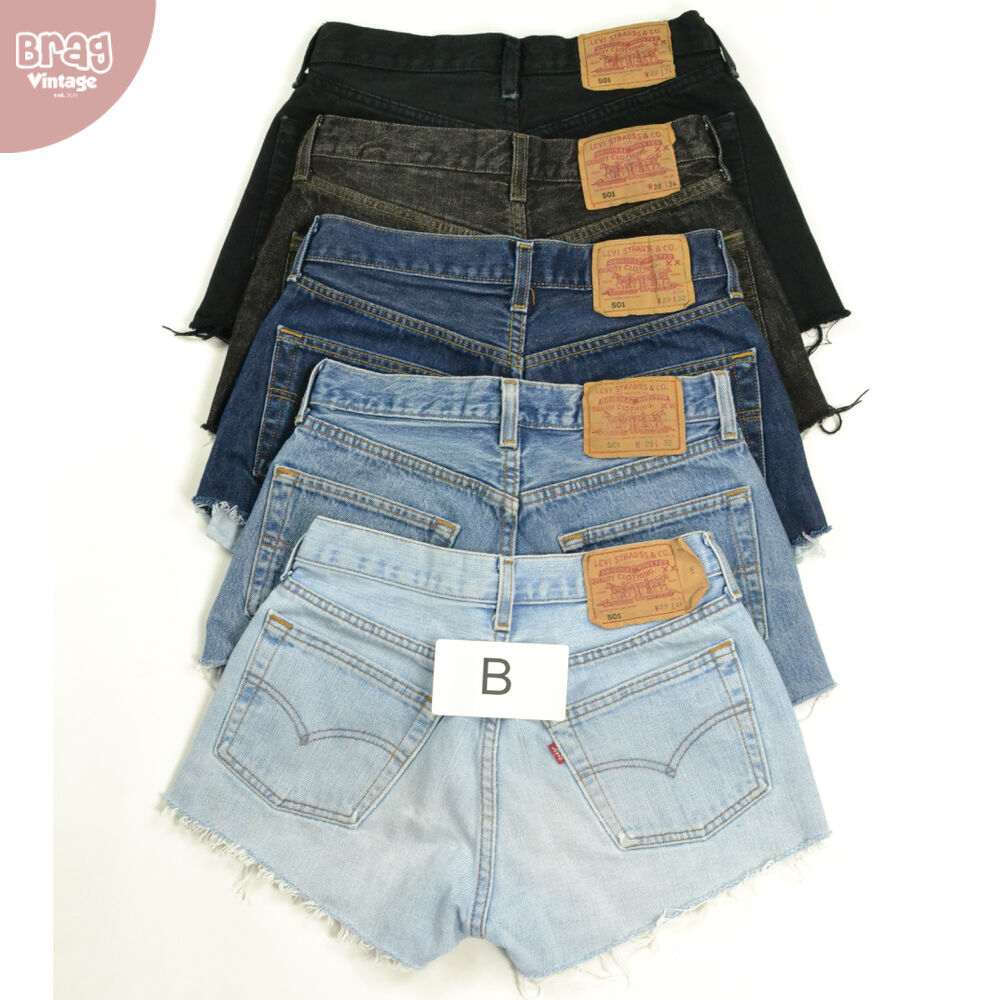 vintage womens levis denim shorts grade b high waisted. Black Bedroom Furniture Sets. Home Design Ideas