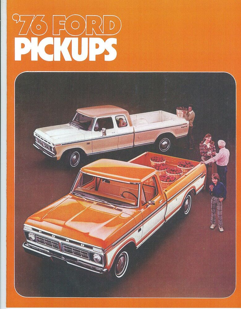 1976 Ford Truck Sales Brochure F150  F F 4