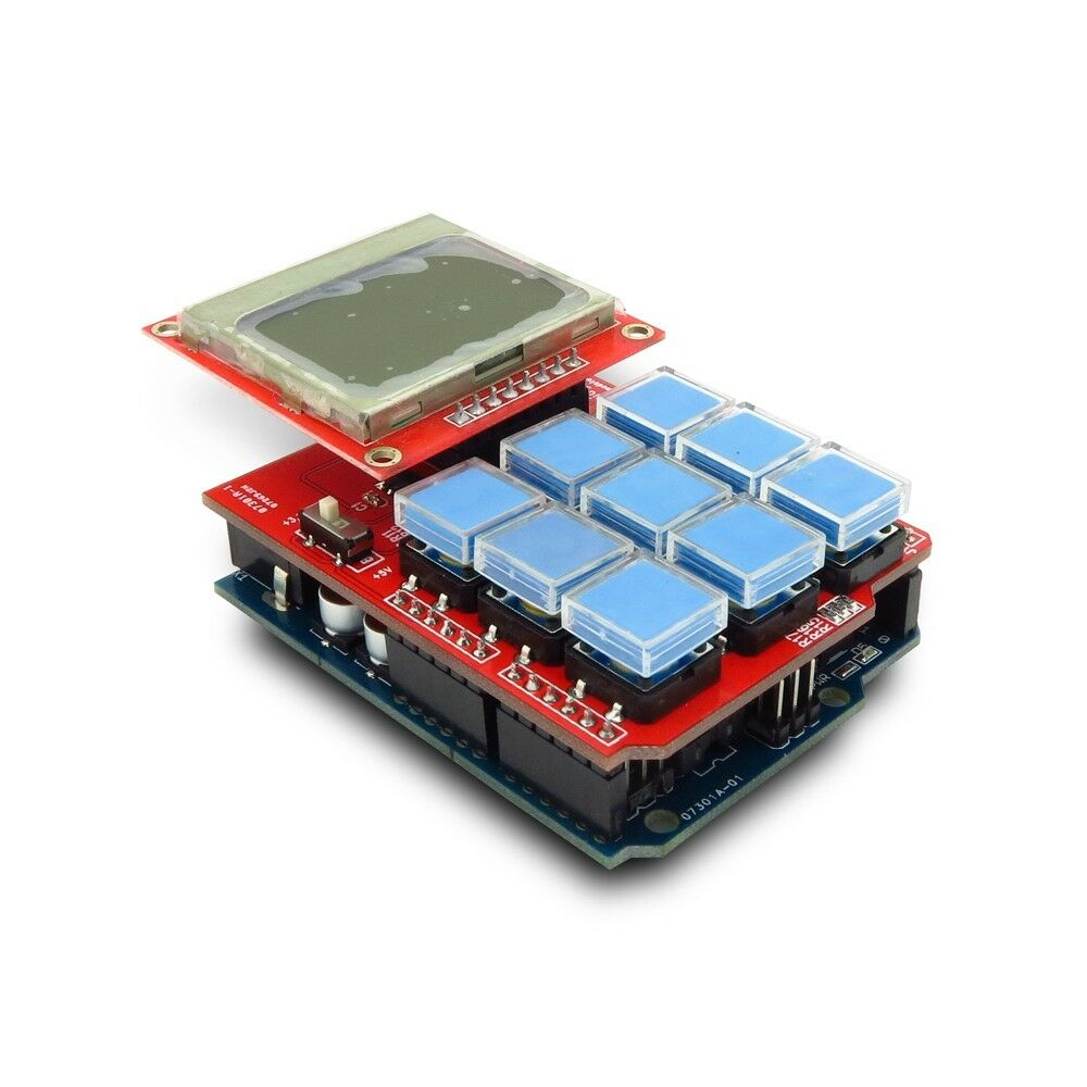 Arduino keypad shield with graphic lcd and blue