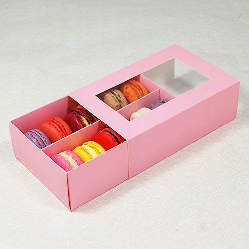 Pink Macaron Box For 12 Macarons Count Of 25 Ebay